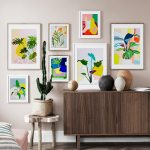 Colorful Abstract Monstera Leaves Wall Art Canvas Painting Nordic Posters And Prints Plants Wall