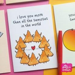 samosa greeting card