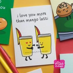mango lassi greeting card