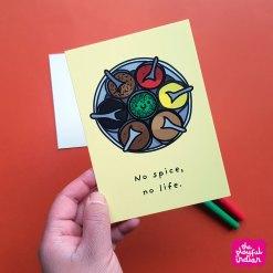 No Spice No Life Postcard