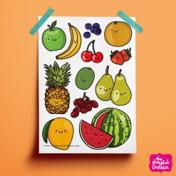 Happy Fruits Print