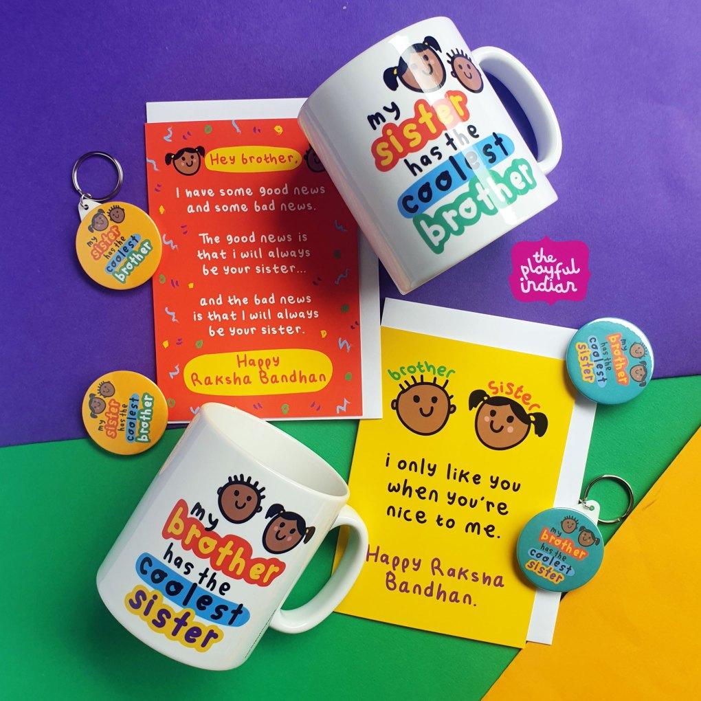 raksha-bandhan-mugs and cards and accessories
