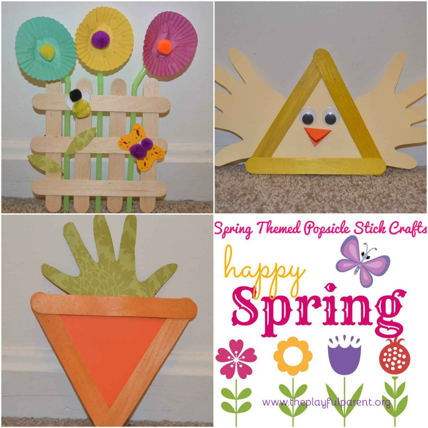 Spring Themed Popsicle Stick Crafts