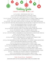 HOLIDAY 2018 GUIDE- ARTS-CRAFTS-STORIES
