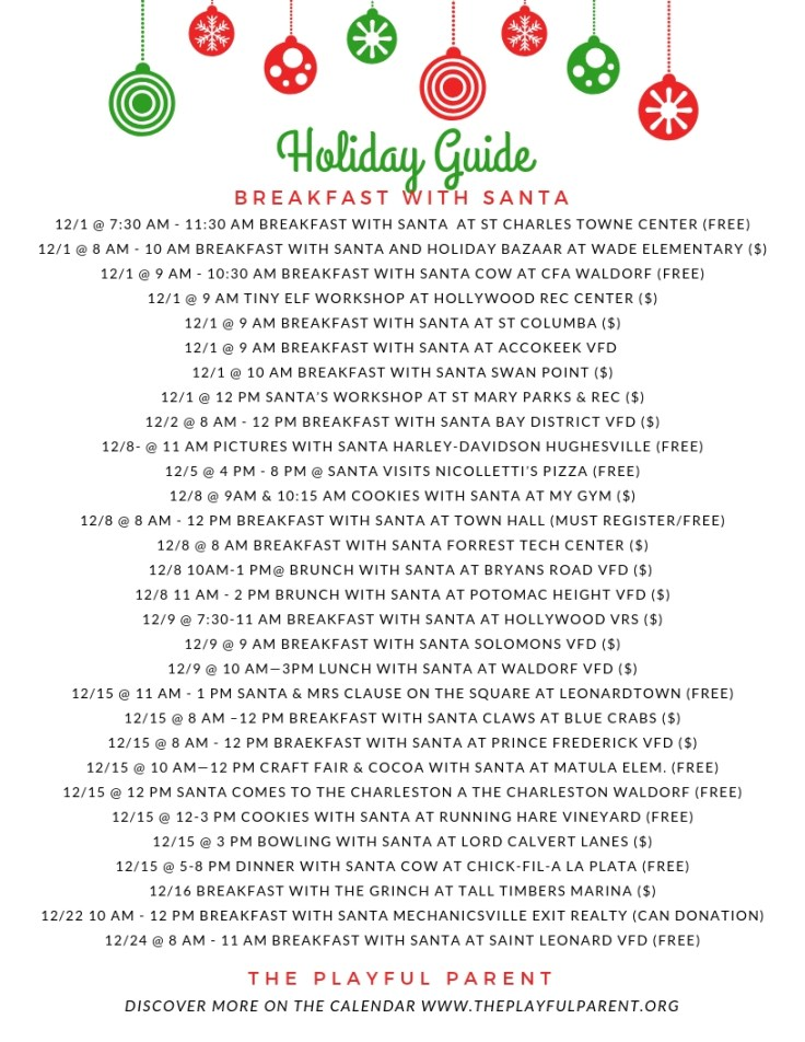 HOLIDAY 2018 GUIDE- BREAKFAST WITH SANTA