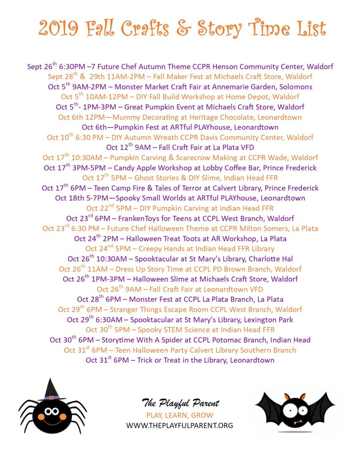 2019 FALL CRAFT LIST- JPEG