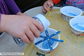 Simple Snowflake Ornaments with Mother Goose Time