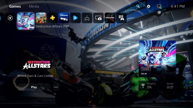 PlayStation 5 UI