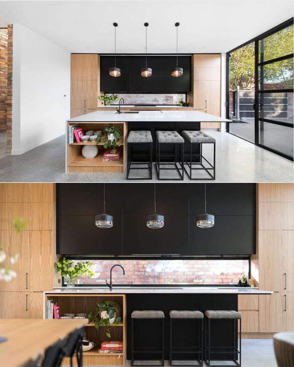 open kitchen design in hall