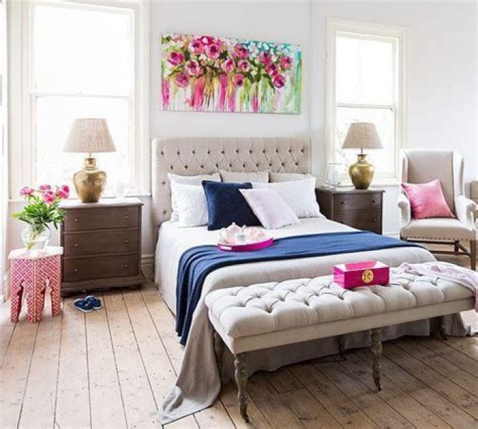 what to hang above bed feng shui