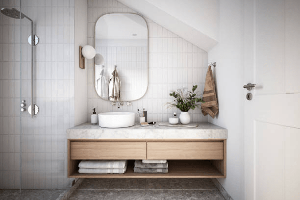 Trendy tiles for your small bathroom