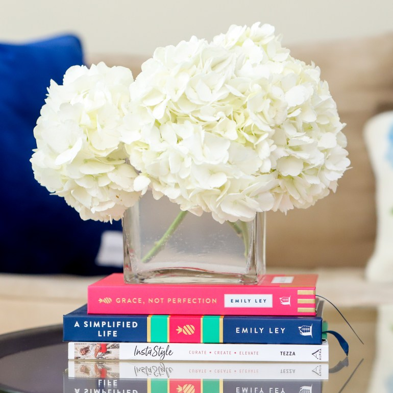 How to Decorate Your Coffee Table on a Budget:  $50 or Less Challenge by Miranda Schultz of The Plus Life Blog