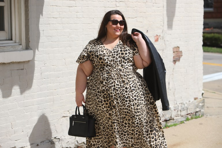 Miranda Schultz of The Plus Life Blog Wearing Beauticurve X Lane Bryant Animal Print Maxi