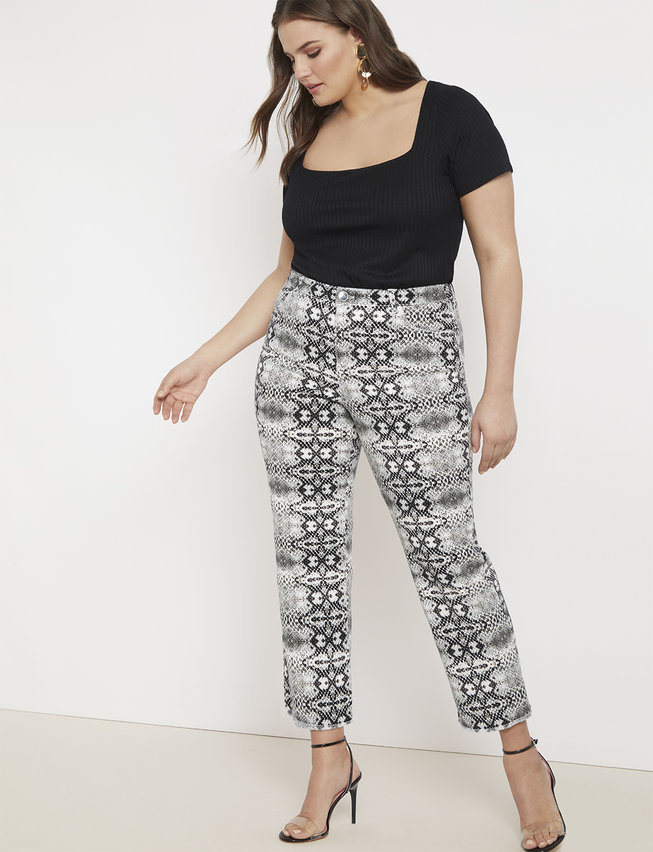 Fall 2019 Plus Size Fashion Trends - Animal Print Snake Print Jeans