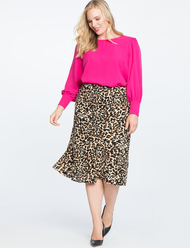 Fall 2019 Plus Size Fashion Trends - Animal Print Skirt