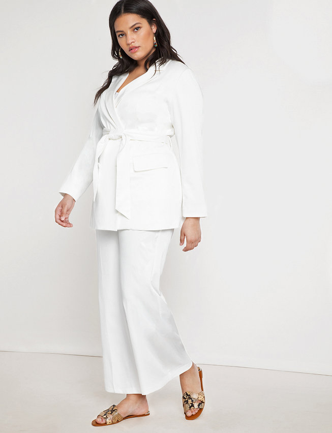 Fall 2019 Fashion Trends - Sleek Suits - Belted Blazer (in White, Black or Camel)