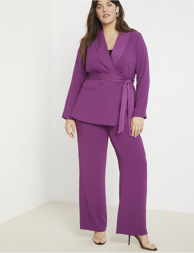 Fall 2019 Fashion Trends - Sleek Suits - Purple Belted Blazer
