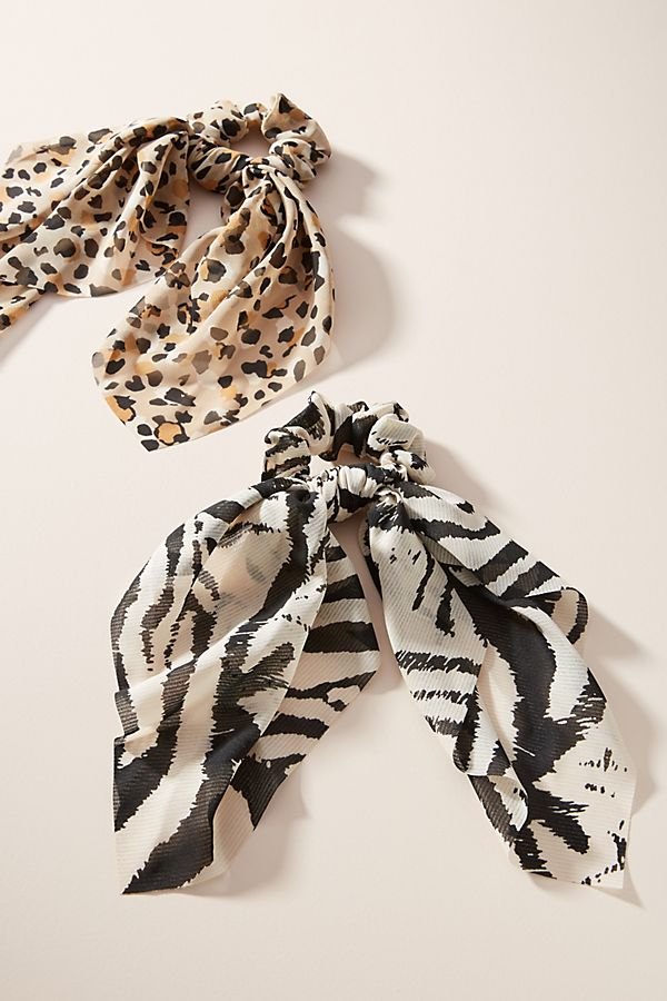 Fall 2019 Fashion Trends - Hair Accessories - Animal Print Pony Tail Holder Set