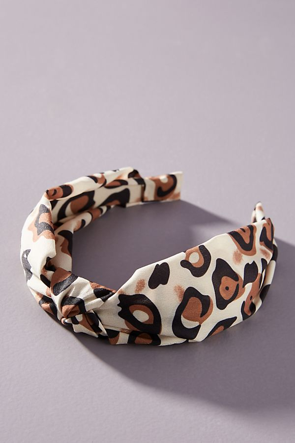 Fall 2019 Fashion Trends - Hair Accessories -  Cheetah Knotted Headband