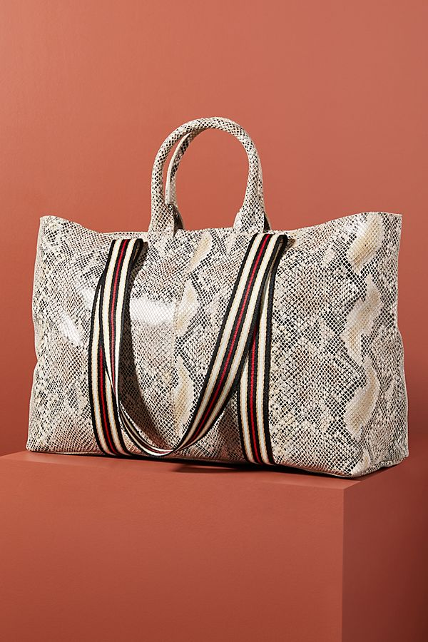 Fall 2019 Fashion Trends - Animal Print - Faux Snakeskin Tote Bag