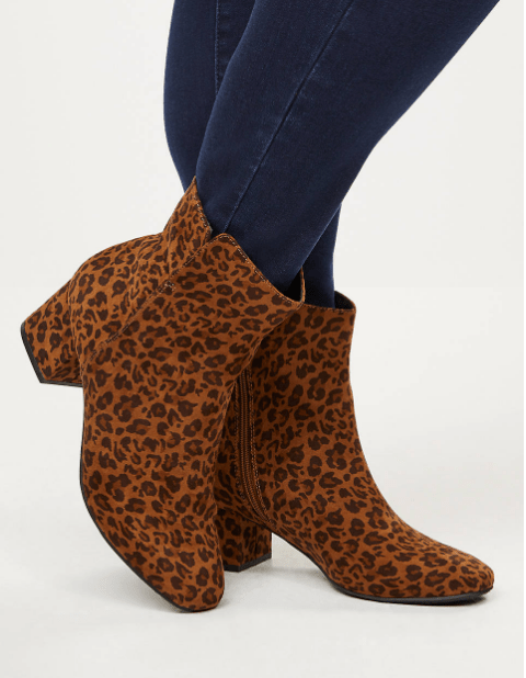 Fall 2019 Plus Size Fashion Trends - Animal Print - Leopard Print Booties