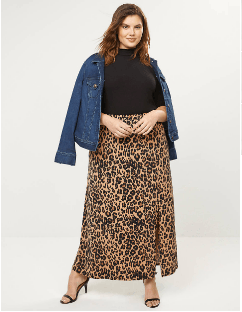 Fall 2019 Plus Size Fashion Trends - Animal Print Leopard Maxi Skirt