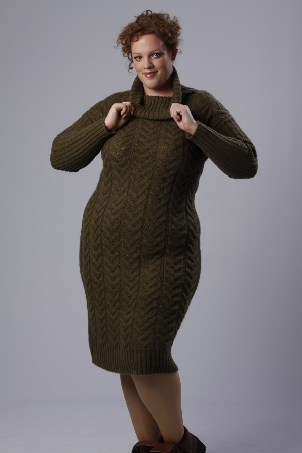 plus size knitted sweatder dress by Alice & You