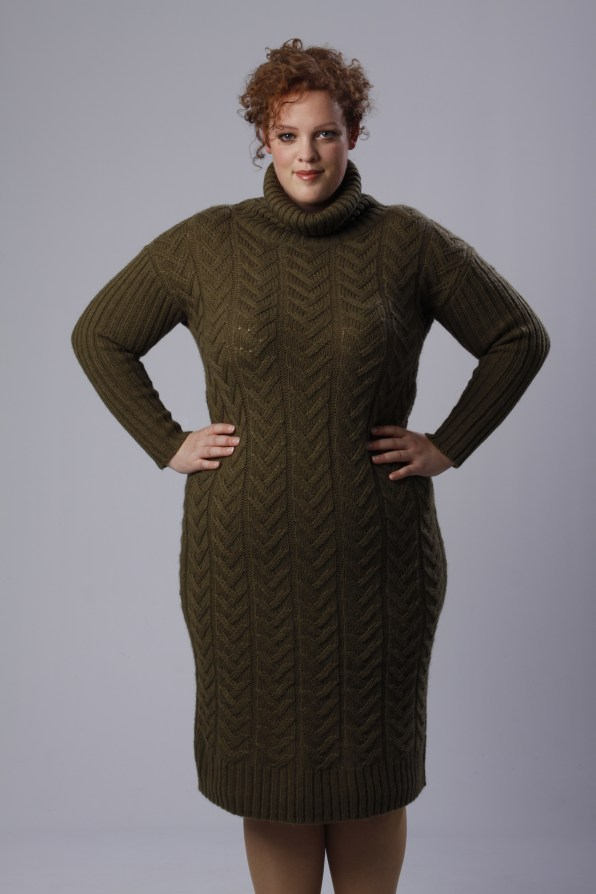 plus size knitted sweater dress Alice & You