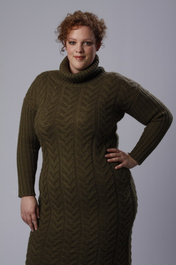 plus size knitted sweater dress by Alice & you