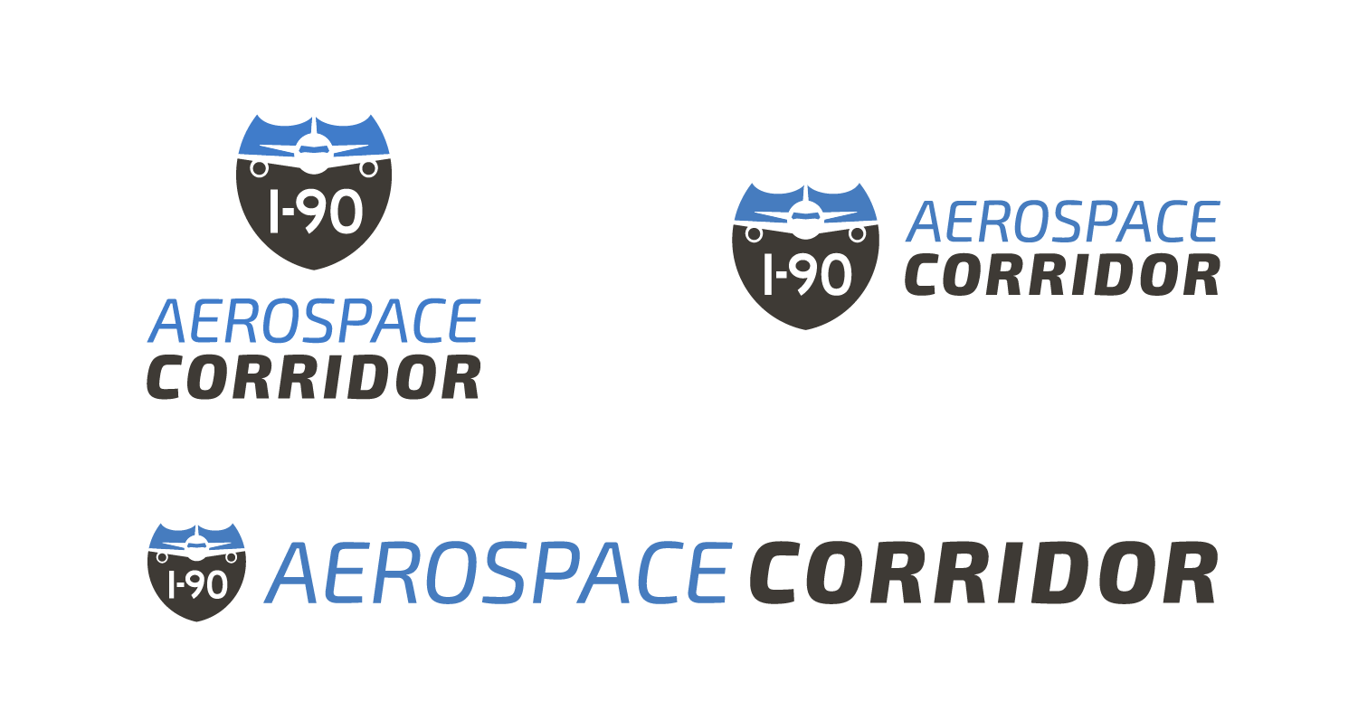 i90 logo concepts with different layouts