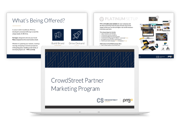 Graphic showcase of Partner Marketing Program Strategy for CrowdStreet