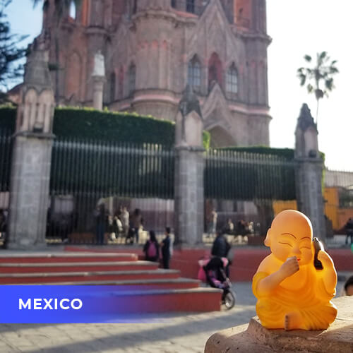 Buddha travels to Mexico