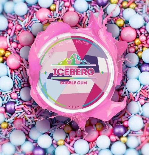 iceberg bubblegum nicotine pouches snus nicopods the pod block
