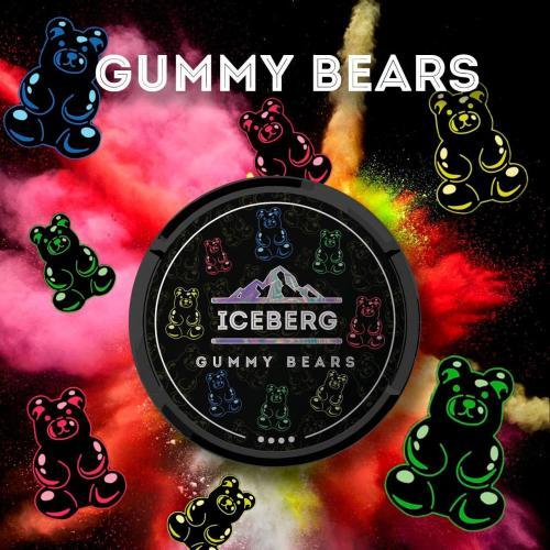 iceberg gummy bears nicotine pouches snus nicopods the pod block