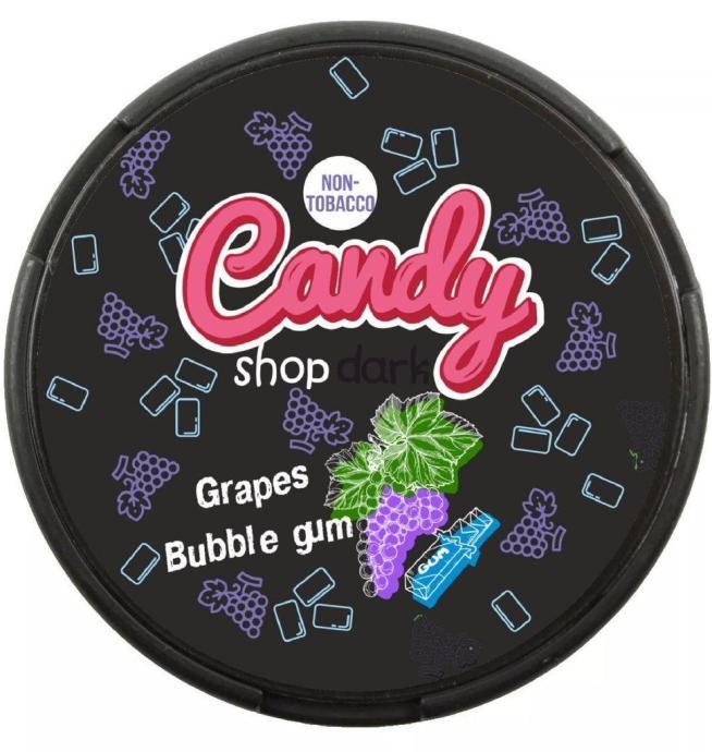 candy shop grape bubblegum nicotine pouches snus nicopods the pod block