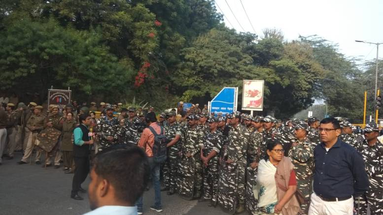 Security Forces at JNU main gate