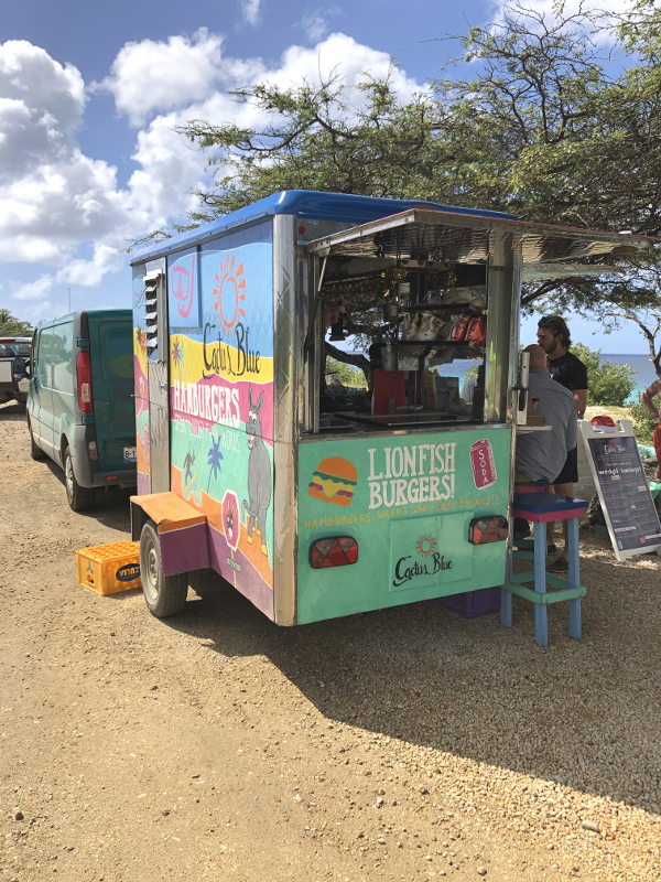 Lionfish food truck in Bonaire
