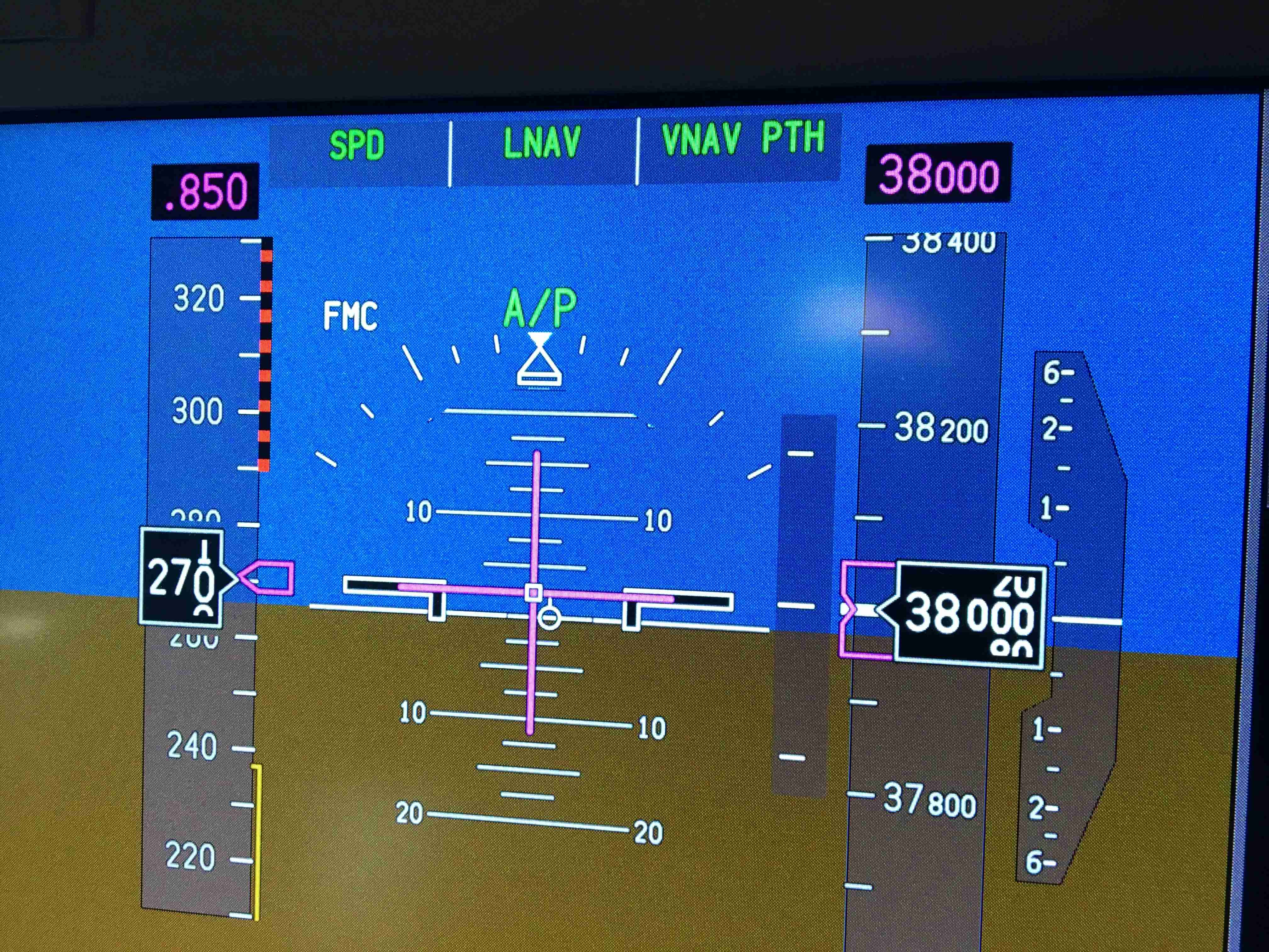 Aircraft must fly an exact speed and altitude when on the Tracks.