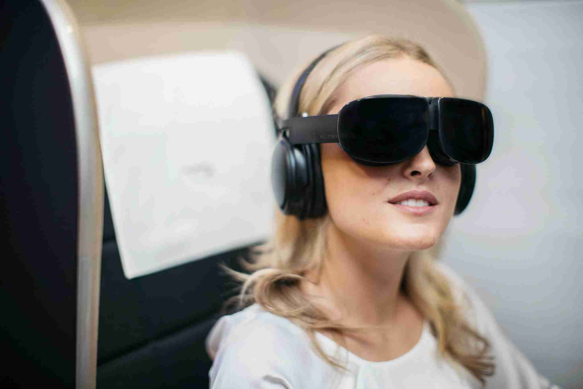 LONDON, UK: British Airways will be bringing First customers a 3D cinema in the skies through virtual reality headsets on select flights, photographed at London Heathrow on 25 July 2019 (Picture by Nick Morrish/British Airways)