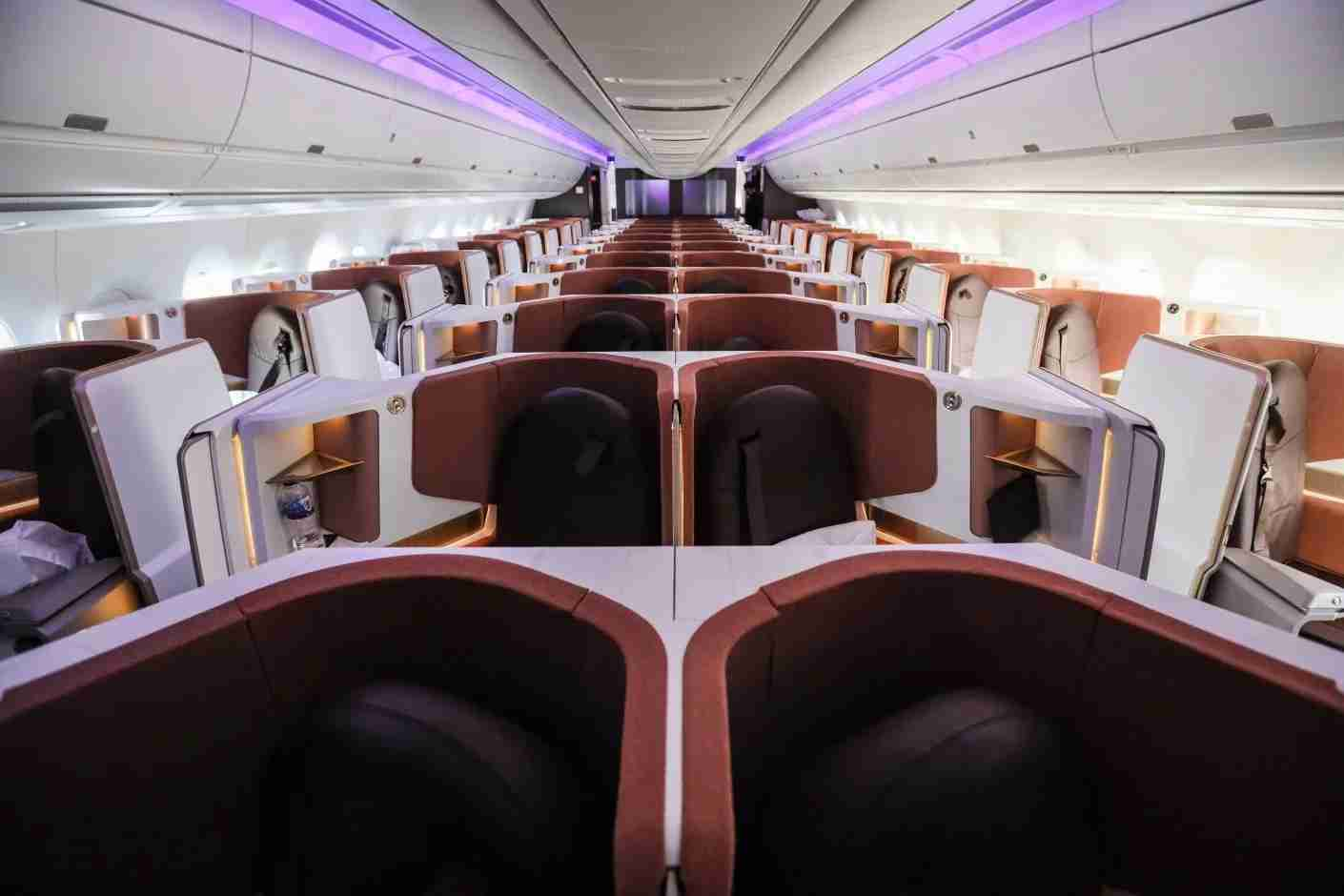Upper Class Suite cabin on Virgin