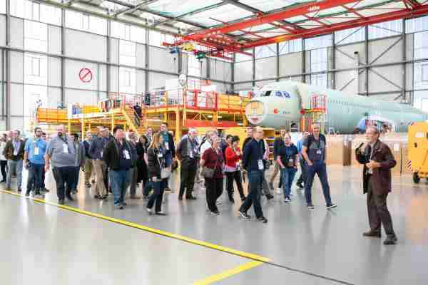 Airbus A321 assembly line tour - Image courtesy of MegaDo / Airbus