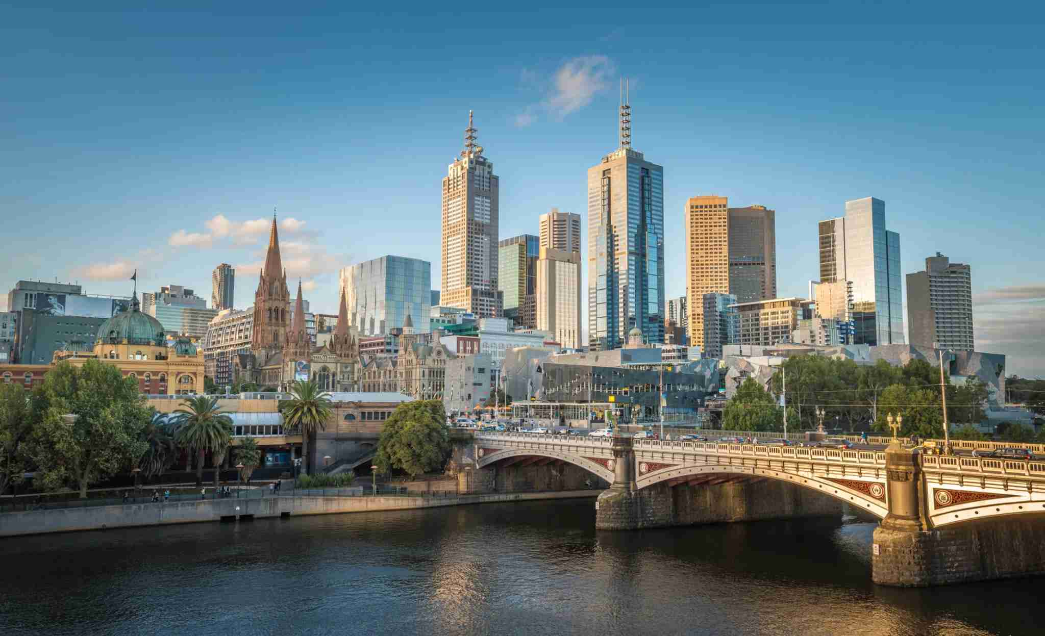 The CBD zone of Melbourne city, Australia. Photo by Boy_Anupong/Getty Images.