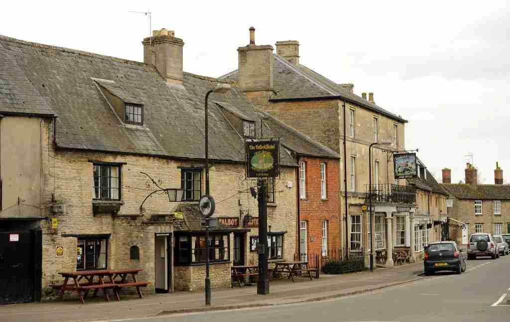General view of Bampton Vilage in Oxfordshire. Bampton is changed into the fictional village of Downton a few weeks a year when filming of Downton Abbey takes place (Photo by Andrew Matthews/PA Images via Getty Images)