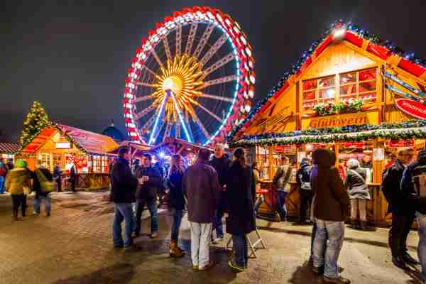 The Christmas market in Berlin. (Photo by Maremagnum/Getty Images)