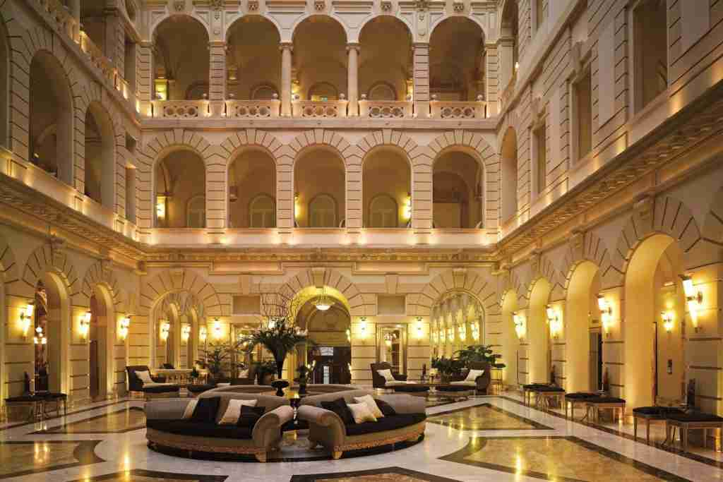 Lobby area at the Boscolo Budapest, Autograph Collection. Photo courtesy of the hotel.