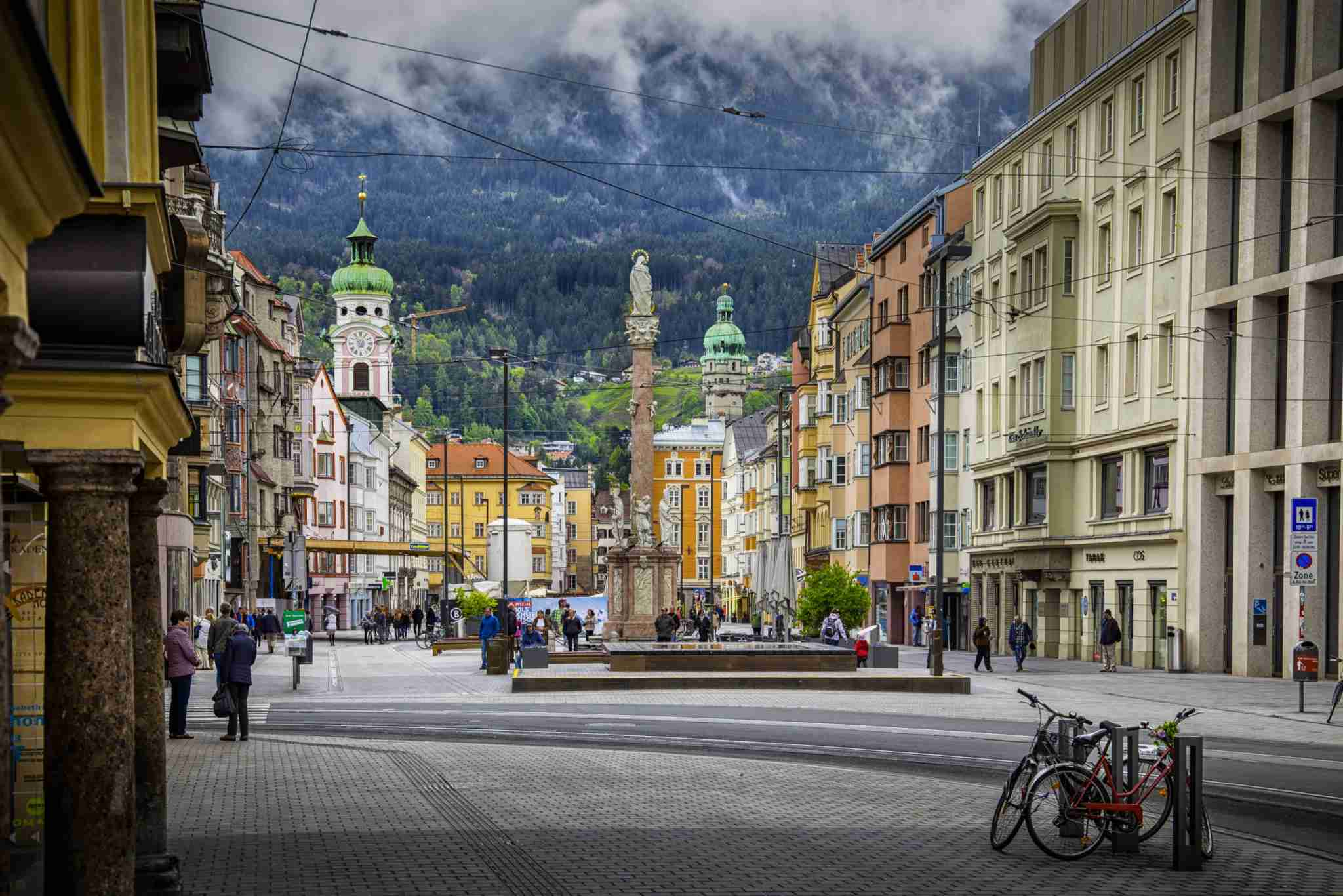 Market square of Old town of Innsbruck, Austria