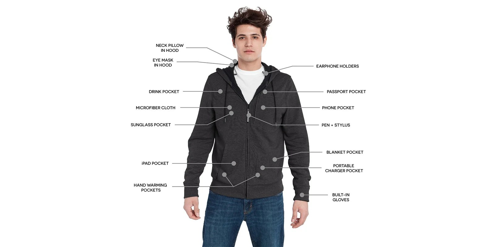 The BauBax Jacket has countless features that make it a solid choice for a travel accessory. (Photo courtesy of Amazon)
