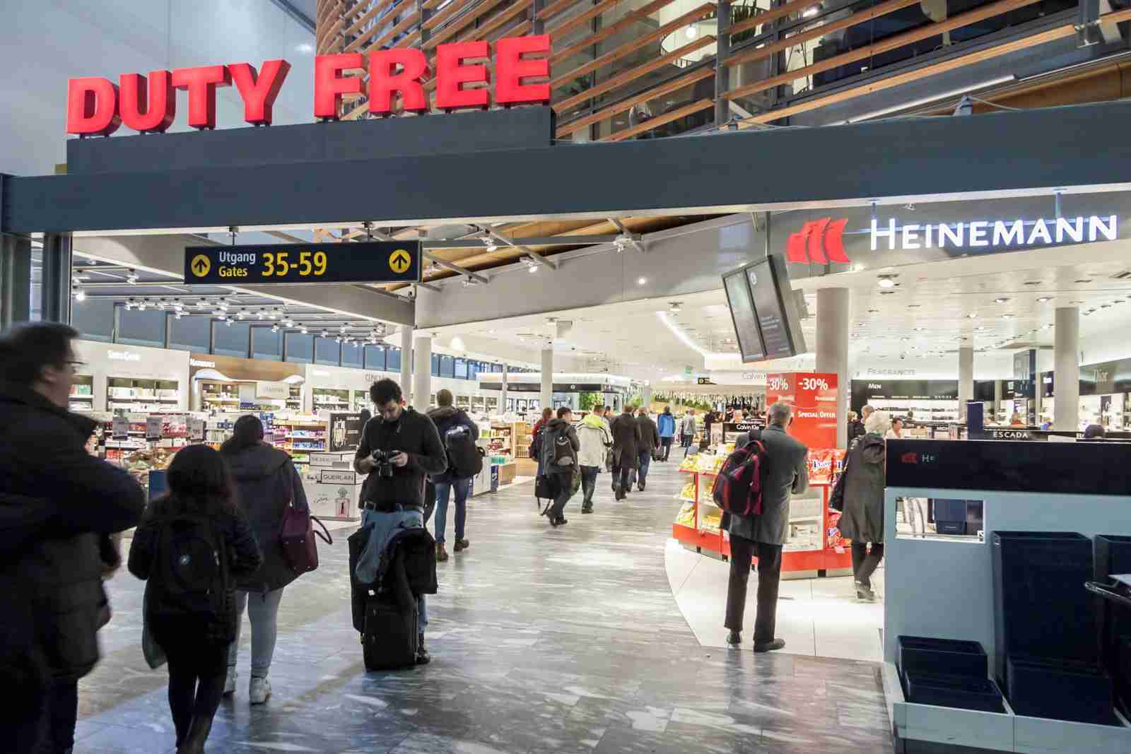 The Duty Free Shop at Oslo Gardermoen International Airport. (Photo by Doin/Shutterstock)
