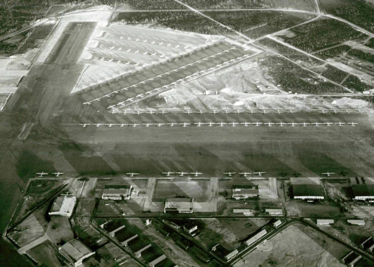 Gander airfield during WW2. (Image courtesy of the Town of Gander)