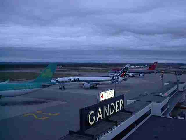 Aircraft on the ground in Gander after the events of September 11th, 2001. (Image courtesy of the Town of Gander)